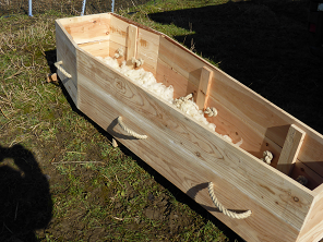 how to make a dog coffin